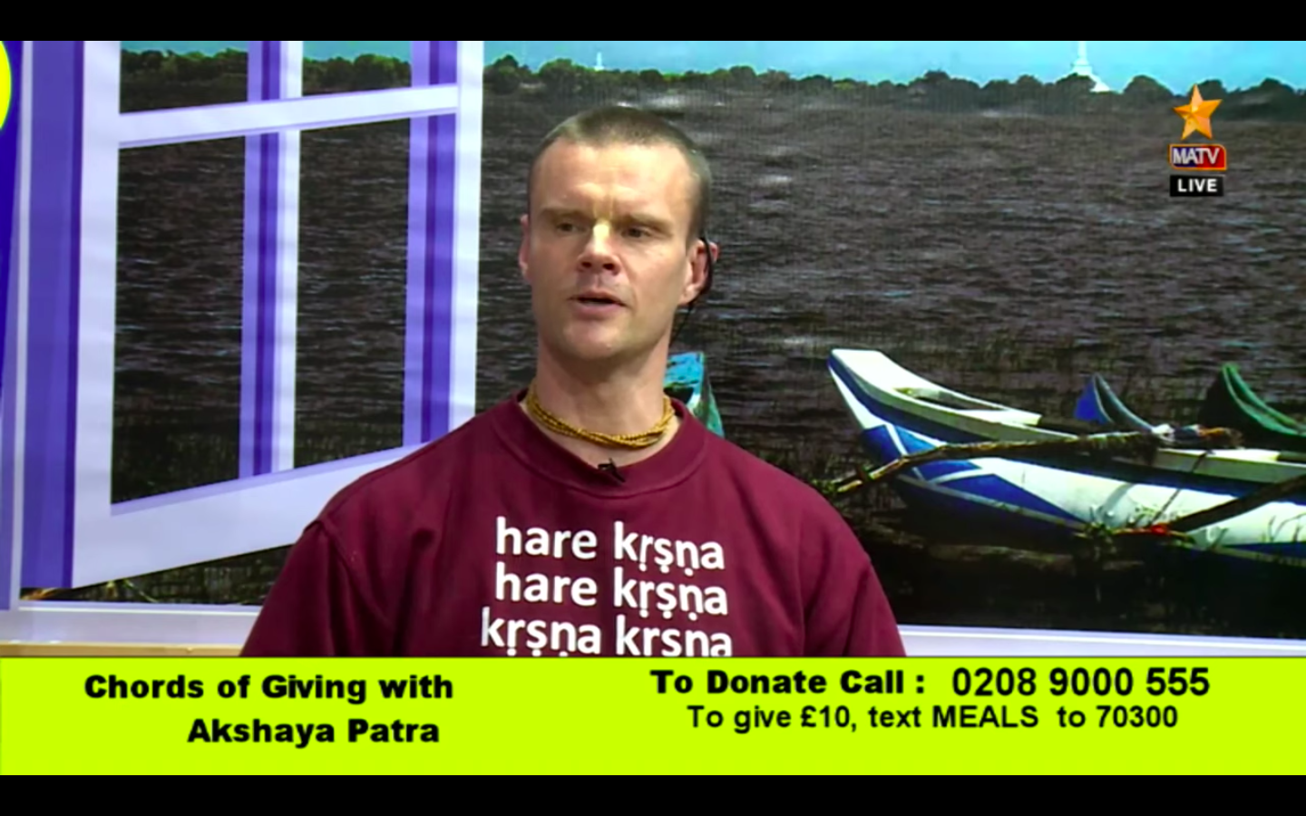 Live Satsang with Akshaya Patra UK Live on MATV