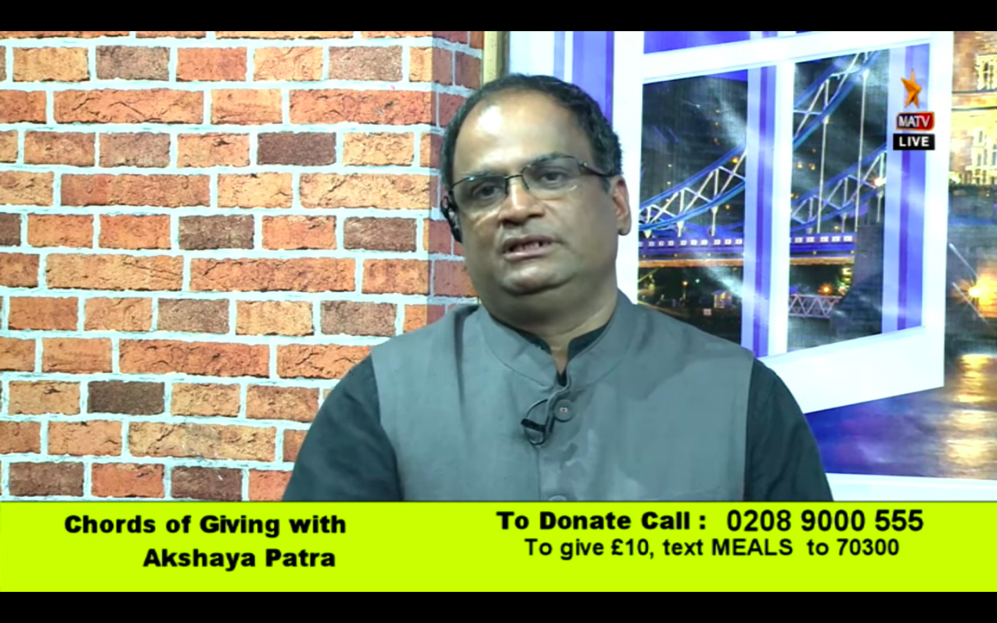 Chords of Giving with Akshaya Patra UK Live on MATV